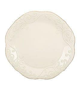 Image of Lenox French Perle Scalloped Stoneware Dinner Plate
