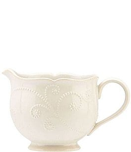 Image of Lenox French Perle Scalloped Stoneware Gravy Boat