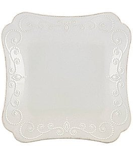 Image of Lenox French Perle Scalloped Stoneware Square Dinner Plate