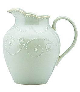 Image of Lenox French Perle Scalloped Stoneware Pitcher