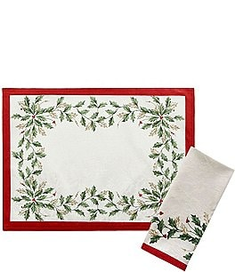 Image of Lenox Holiday Jacquard Table Linens