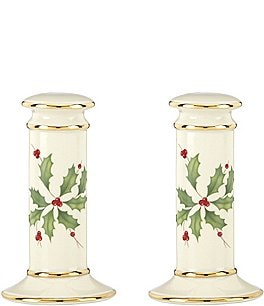 Image of Lenox Holiday Salt & Pepper Shaker Set