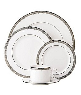 Image of Lenox Lace Couture Platinum 5-Piece Place Setting