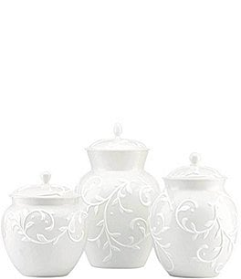 Image of Lenox Opal Innocence Carve 3-piece Canister Set