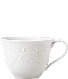 Image of Lenox Opal Innocence Carved Scroll Porcelain Cup