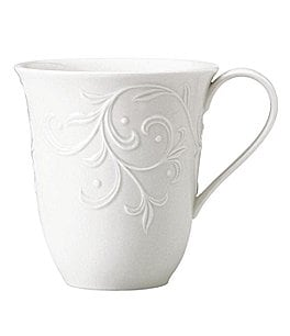 Image of Lenox Opal Innocence Carved Scroll Porcelain 14-oz. Mug