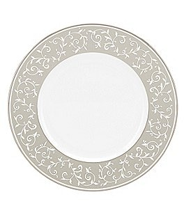 Image of Lenox Opal Innocence Dune Vine Platinum Bone China Dinner Plate