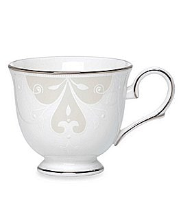 Image of Lenox Opal Innocence Scroll Platinum Bone China Cup
