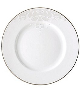 Image of Lenox Opal Innocence Scroll Platinum Bone China Dinner Plate