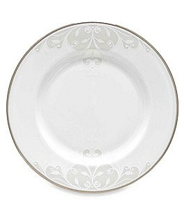 Image of Lenox Opal Innocence Scroll Platinum Bone China Salad Plate