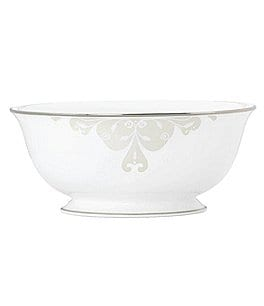 Image of Lenox Opal Innocence Scroll Platinum Serve Bowl Bone China