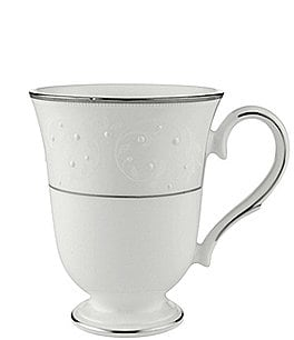 Image of Lenox Opal Innocence Vine & Pearl Platinum Opalescent Bone China Accent Mug