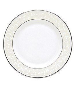 Image of Lenox Opal Innocence Vine & Pearl Platinum Opalescent Bone China Bread & Butter Plate