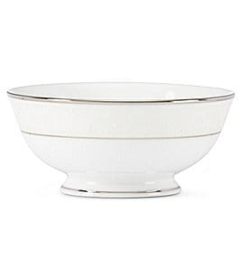 Image of Lenox Opal Innocence Vine & Pearl Platinum Opalescent Bone China Fruit Bowl