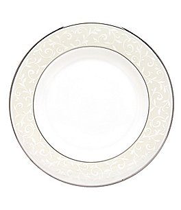 Image of Lenox Opal Innocence Vine & Pearl Platinum Opalescent Bone China Salad Plate