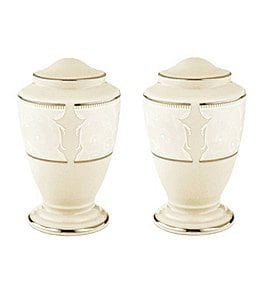 Image of Lenox Pearl Innocence Salt & Pepper Shaker Set