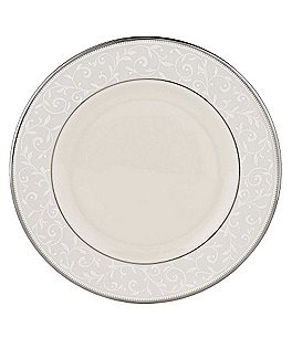 Image of Lenox Pearl Innocence Vine & Pearl Platinum Bone China Salad Plate