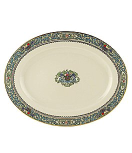 Image of Lenox Presidential Collection Autumn Floral Fruit Basket Oval Platter