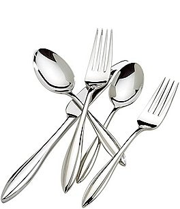 Image of Lenox Sculpt Modern 65-Piece Stainless Steel Flatware Set