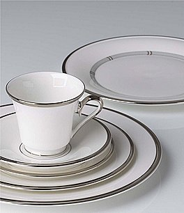 Image of Lenox Solitaire® White 5-Piece Place Setting