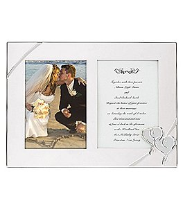 Image of Lenox True Love Double Wedding Invitation Picture Frame