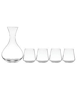 Image of Lenox Tuscany 5-Piece Decanter with Stemless Wine Glass Set