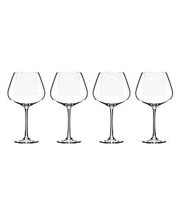 Image of Lenox Tuscany 4-Piece Burgundy Wine Glass Set