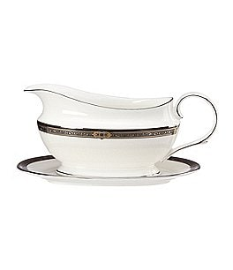 Image of Lenox Vintage Jewel Gravy Boat with Stand