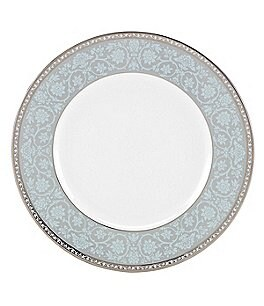 Image of Lenox Westmore Floral Platinum Bone China Accent Salad Plate