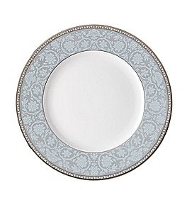 Image of Lenox Westmore Floral Platinum Bone China Dinner Plate