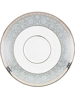 Image of Lenox Westmore Floral Platinum Bone China Saucer