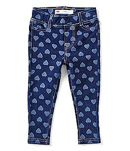 Image of Levi's® Baby Girls 12-24 Months Haley May Heart-Printed Knit Denim Leggings