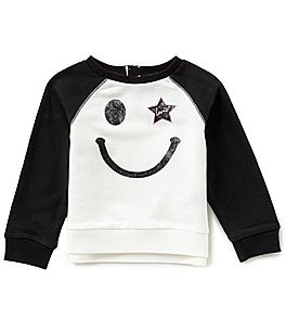 Image of Levi's® Baby Girls 12-24 Months Smiley Face Long-Sleeve Top
