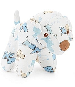 "Image of Little Me 5"" Cute Puppies Plush Rattle"