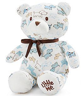 "Image of Little Me Baby Boys Cute Puppies 10"" Plush Teddy Bear"