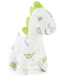 "Image of Little Me Baby Boys 5"" Tiny Dinosaur Plush Rattle"