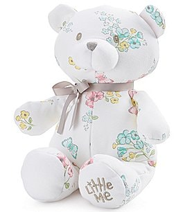 "Image of Little Me Baby Girls Meadow Floral 10"" Plush Teddy Bear"
