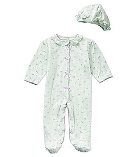 Image of Little Me Baby Girls Preemie-9 Months Petite Rose Footed Coverall