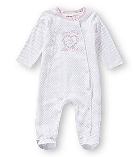 Image of Little Me Baby Girls Preemie-9 Months Thank Heaven for Girls Footed Coverall