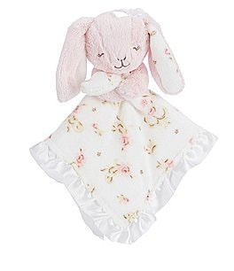 Image of Little Me Baby Girls Vintage Rose Bunny Snuggle Buddy
