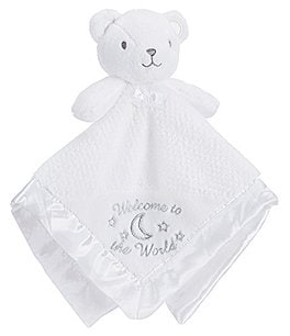 Image of Little Me Baby Welcome To The World Bear Snuggle Buddy Blanket