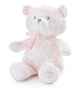 "Image of Little Me Damask Scroll 10"" Plush Teddy Bear"