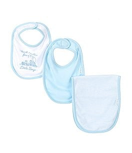 Image of Little Me Thank Heaven for Little Boys Bib & Burp Cloth 3-Piece Set