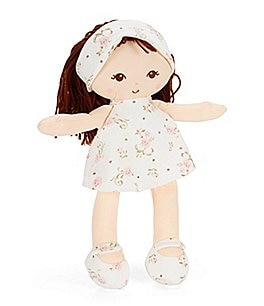 "Image of Little Me Vintage Rose 13"" Brunette Plush Doll"
