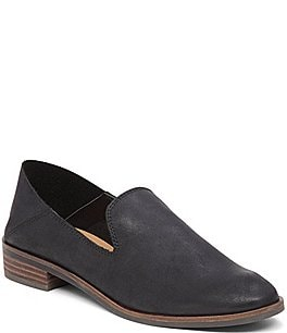 Image of Lucky Brand Cahill Leather Block Heel Dress Flats
