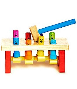 Image of Melissa & Doug Deluxe Pounding Bench