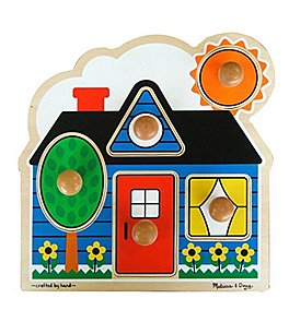 "Image of Melissa & Doug ""First Shapes"" Jumbo Knob Puzzle"