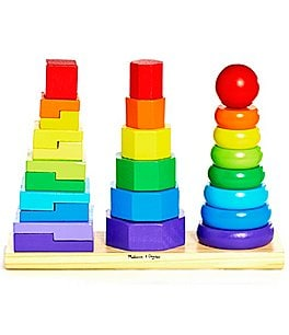Image of Melissa & Doug Geometric Stacker Play Set