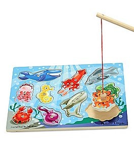 Image of Melissa & Doug Magnetic Fishing Puzzle Game