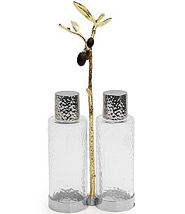 Image of Michael Aram Olive Branch Oil & Vinegar Bottle Caddy Set